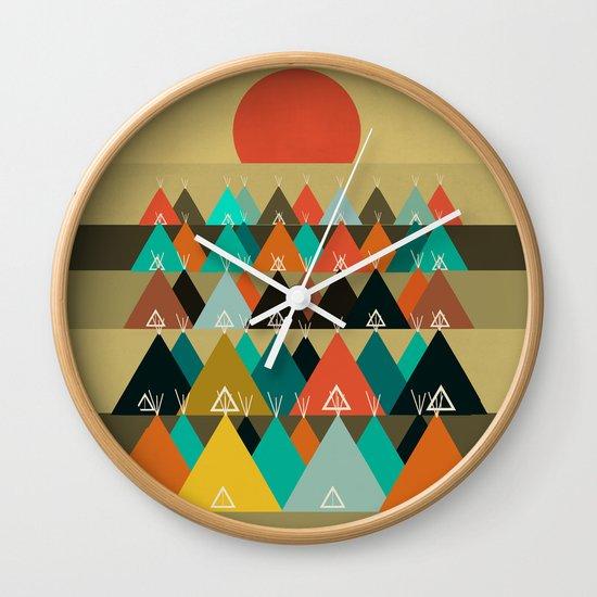 Tipi Moon Wall Clock