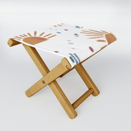 sunbursts Folding Stool