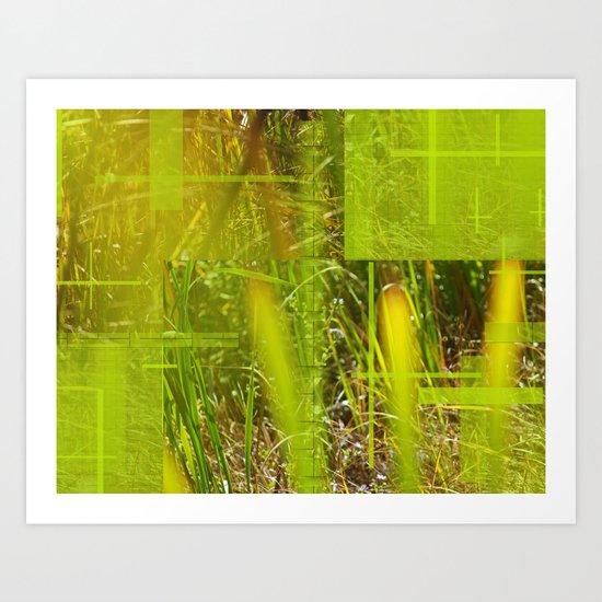 The Green Grass  Art Print