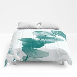 Green Eucalyptus #1 #foliage #decor #art #society6 Comforters