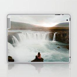 Last sunlight at Godafoss Waterfall Laptop & iPad Skin