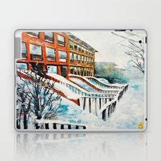 Brooklyn New York In Snow Storm Laptop & iPad Skin