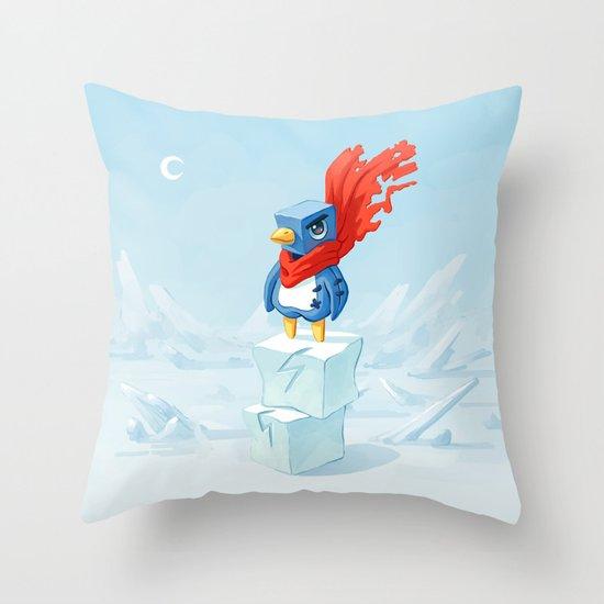 Super Penguin Throw Pillow