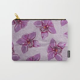 Orchids Pattern Carry-All Pouch