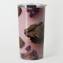 Flourish pattern in pink Travel Mug