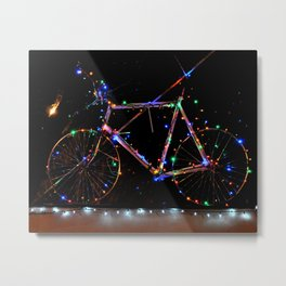 LIGHT UP MY BIKE Metal Print