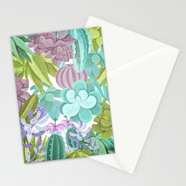 Tropical Cactus Pattern Stationery Cards