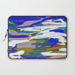 Blue & Mauve Abstract Laptop Sleeve