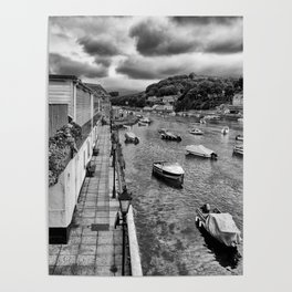 West Looe River in Black and White Poster