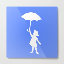 Umbrella Girl Metal Print