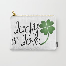 Lucky In Love | Four Leaf Clover Carry-All Pouch