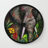 dumbo Wall Clocks featuring Dumbo by Megan Bailey Gill