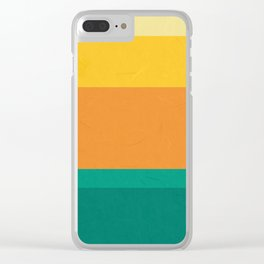 Five Shades of Sunset Clear iPhone Case