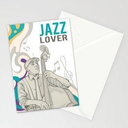 Jazz Vintage Graphic Print Stationery Cards