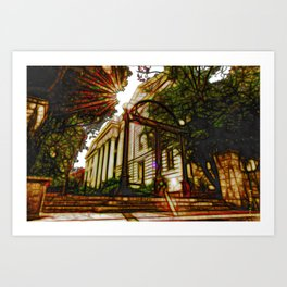 Georgia - the university Art Print