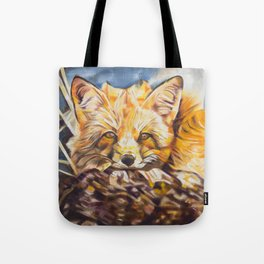 Cozy Fleece Fox Tote Bag