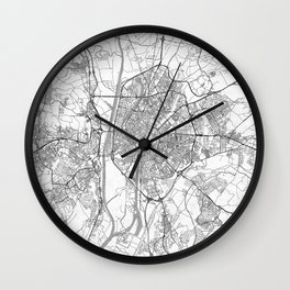 Seville Map Line Wall Clock