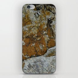 Cornish Headland Cracked Rock Texture with Lichen iPhone Skin