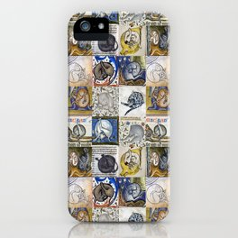 Medieval Cats Licking Their Butts iPhone Case