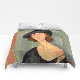 "Amedeo Modigliani ""Jeanne Hébuterne (Au chapeau)"" Comforters"