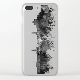 Chesterfield skyline in black watercolor Clear iPhone Case