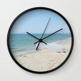 Edge of Long Beach Wall Clock