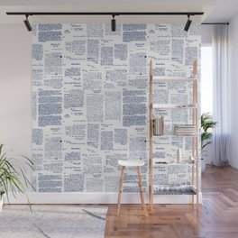 George Washington's Letters // Blue Ink Wall Mural