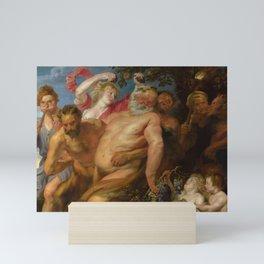 "Sir Anthony van Dyck ""Drunken Silenus supported by satyrs"" Mini Art Print"