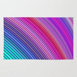 Cold rainbow stripes Rug