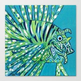 Lion Fish 1, a pretty predator Canvas Print