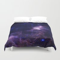 galaxy Duvet Covers featuring gAlAXY Purple Blue by 2sweet4words Designs