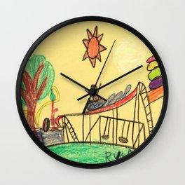 Water Play Park Wall Clock