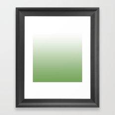 Easter Green Gradient Framed Art Print