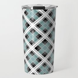 Tartan 1 blue , gray blue Travel Mug