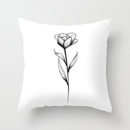 Lone Tulip Throw Pillow