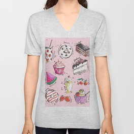 Food Love Unisex V-Neck