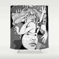 depression Shower Curtains featuring Depression by Benson Koo