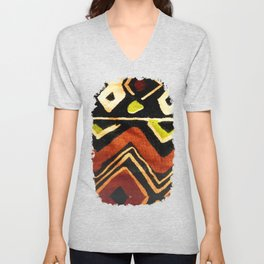 Africa Design Fabric Texture Unisex V-Neck