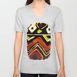 Africa Design Fabric Texture Unisex V-Neck