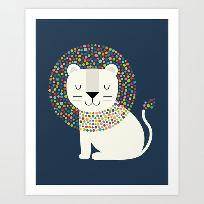 As A Lion Art Print