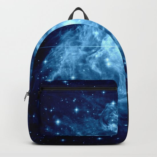 Turquoise Galaxy Star Backpack