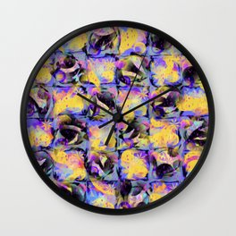 Abstract Square Pattern Art Wall Clock