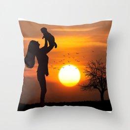Mother's Day T-Shirt Throw Pillow