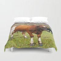 cows Duvet Covers featuring Cows by AstridJN