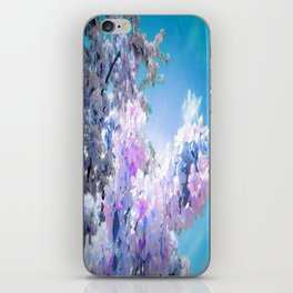 Flowers Lavender Pink Periwinkle Turquoise iPhone Skin