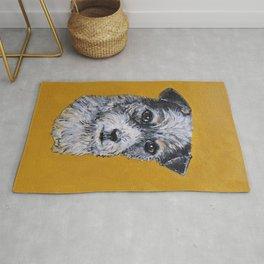 Terrier Mix Dog Portrait Rug
