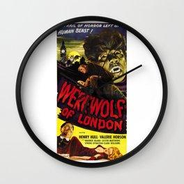 Werewolf of London, vintage horror movie poster, 2 Wall Clock