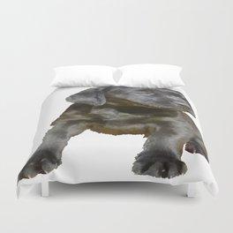 Adorable and Cute Black Labrador Puppy Vector Duvet Cover