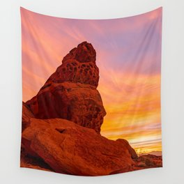 Balanced Rock Sunrise - Valley of Fire Wall Tapestry