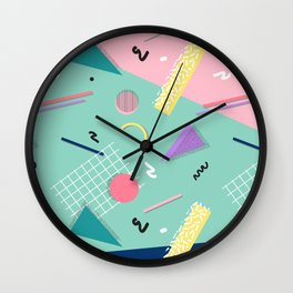 Dreaming 80s Pattern #society6 #decor #buyart Wall Clock